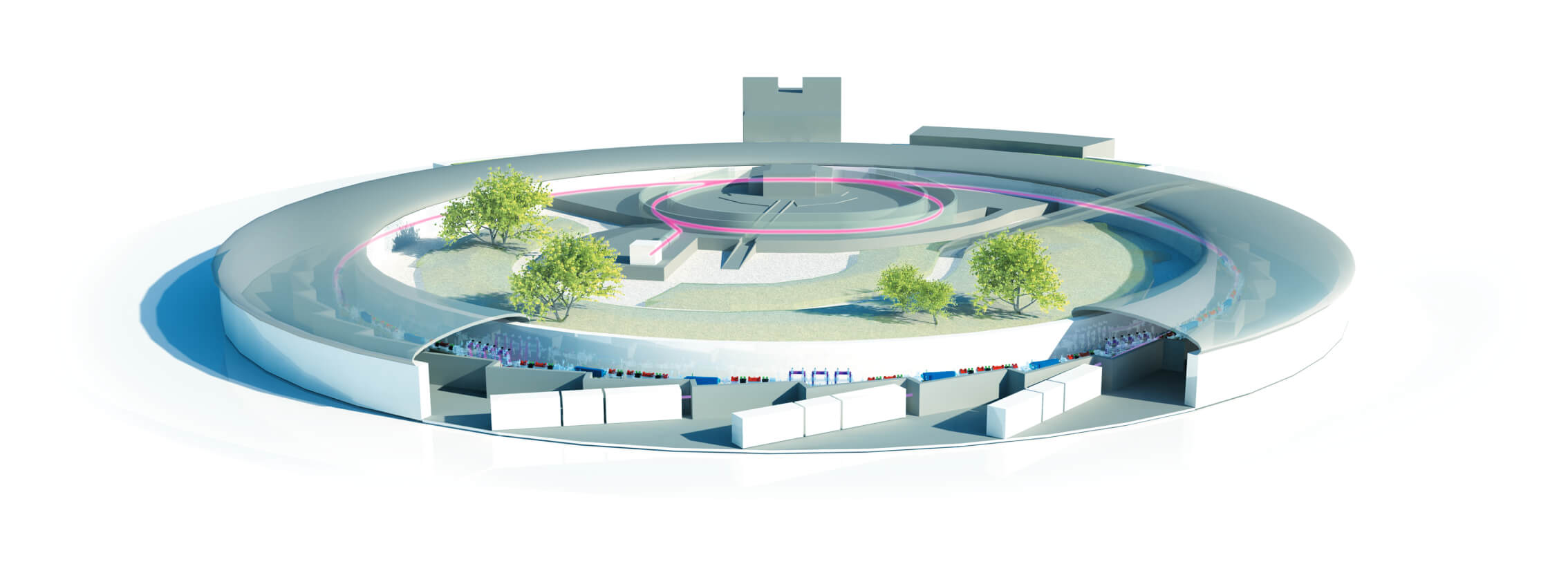 schema of the european synchrotron