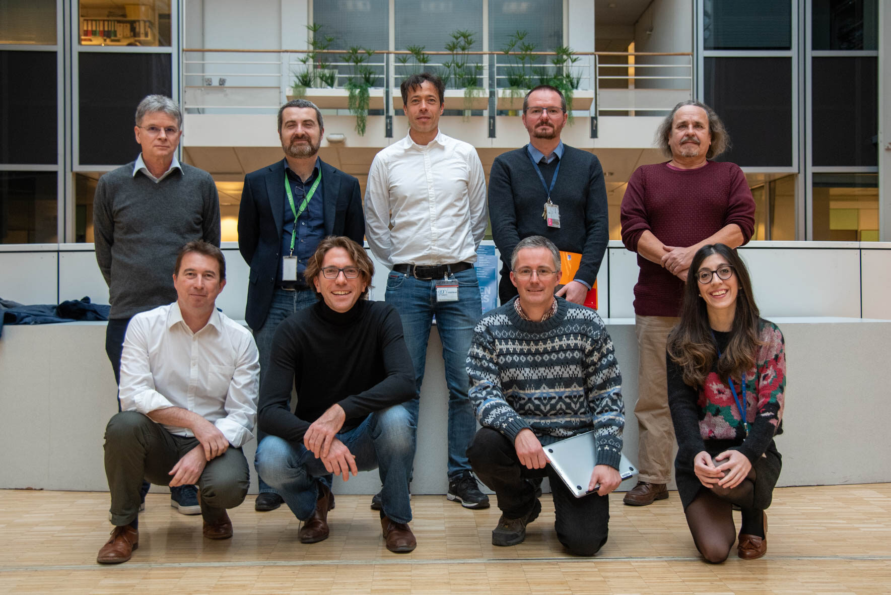 BASF at the ESRF on 28 January 2020 (From left to right, upper row: A. Fitch, E. Capria, P. Welter, Y. Watier, V. Honkimaki; lower row: E. Mitchell, B. Hinrichsen, J. Kieffer, C. Giacobbe).